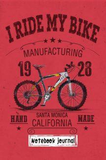 Блокнот. I ride my bike. Красный