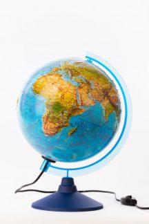 Глобус Земли ландшафтный рельефный с подсветкой. Диаметр 250мм