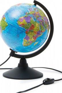 Глобус Земли политический рельефный с подсветкой. Диаметр 210мм