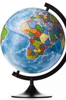 Глобус Земли политический рельефный. Диаметр 320 мм