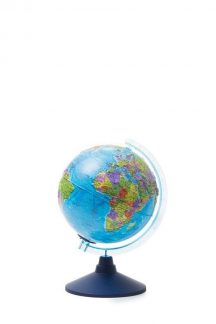 Глобус Земли политический рельефный с подсветкой от батареек. Диаметр 210мм